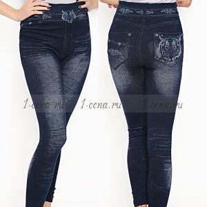 Леггинсы утеплённые джинсовые ТИГР.